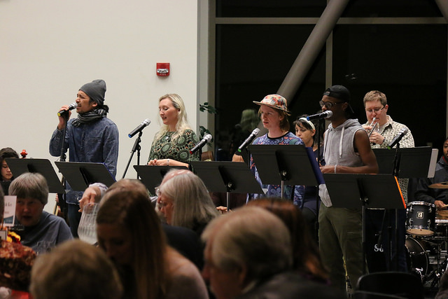 Shoreline students performing in the Funk and Groove ensemble