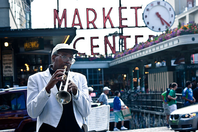 Pike Place Market Musician