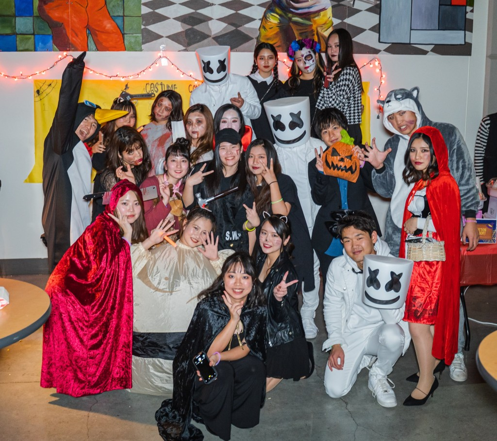 Students wore great costumes to last year's Halloween Party!